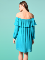 Bea teal dress Bardot