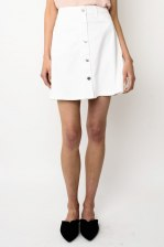 Janey white denim mini skirt