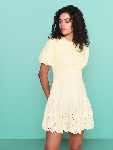Veronica light yellow dress