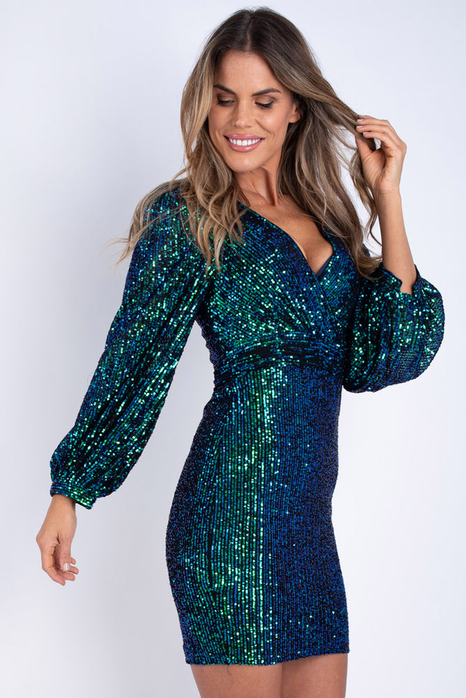 Ross Sparkle Dress - Green