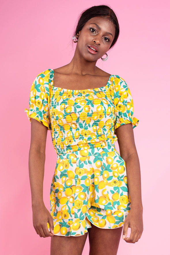 Lilo Lemon Two Piece Coord- Shorts