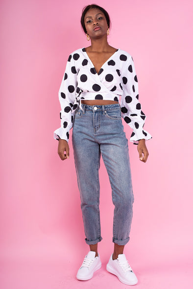 Norah Polka Dotty Top - Black & White