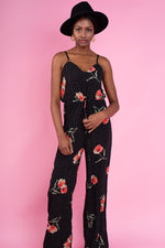Avery Floral Jumpsuit - Black