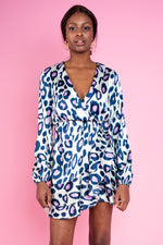 Monna Wrap Printed Dress