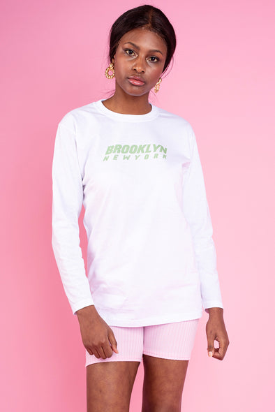 Benny Long Sleeve Top With Brooklyn Slogan