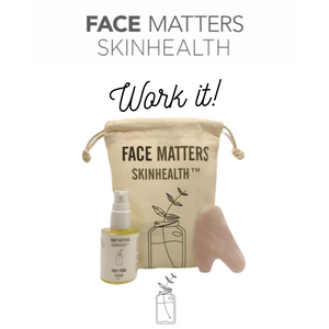 Work It - Face Food Serum, Gua Sha, Bag kit