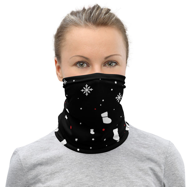 Neck Gaiter/Face Covering - Christmas Tree and Candy Pattern