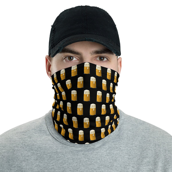 Neck Gaiter Bandana - Beer Drinker (Black)