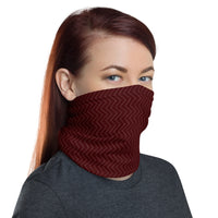 Neck Gaiter Bandana -  Dark Red