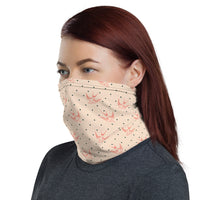 Neck Gaiter Bandana - Cute Peach
