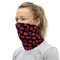 Neck Gaiter Bandana  - Thousands of Kisses (Black)
