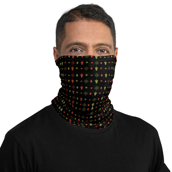 Neck Gaiter/Face Covering - Christmas Trees Pattern