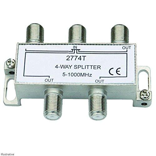 4 way tv passive splitter