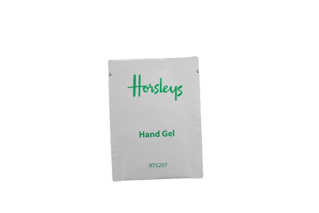 single hand gel sachet front view