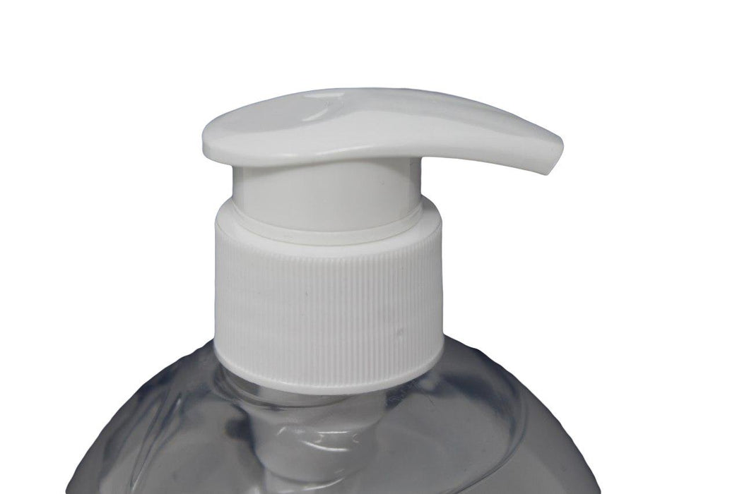 close up image of hand sanitiser pump