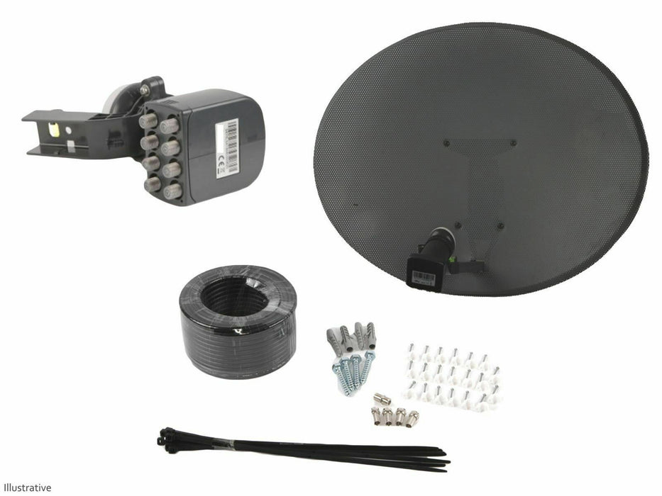 Zone 1 Satellite Dish With Octo LNB & Installation Kit