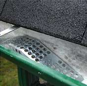 Gutter filter installed over the downspout