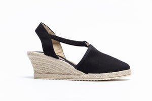 ShoeDolly Black City - Mid Heel Espadrille