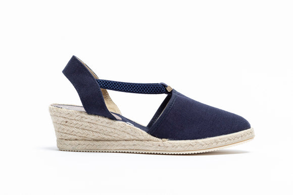 ShoeDolly Navy City - Low Heel Espadrille