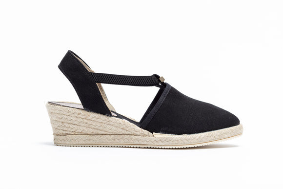 ShoeDolly Black City - Low Heel Espadrille