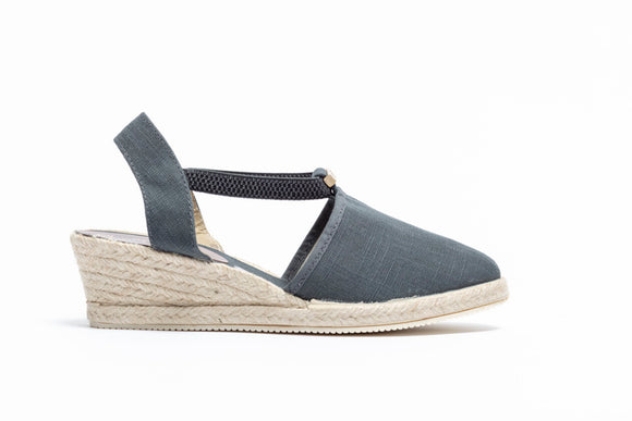 ShoeDolly Slate Grey City - Low Heel Espadrille