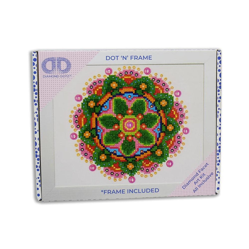 Diamond Dotz - Flower Mandala (framed) - Craft