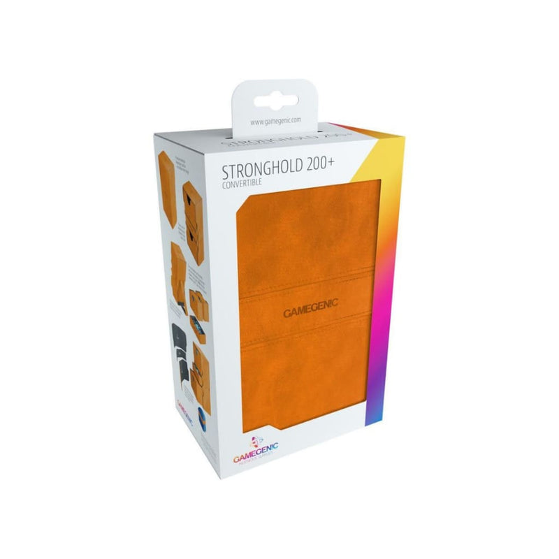 Gamegenic - Stronghold Convertible Deck Box 200ct - Orange -