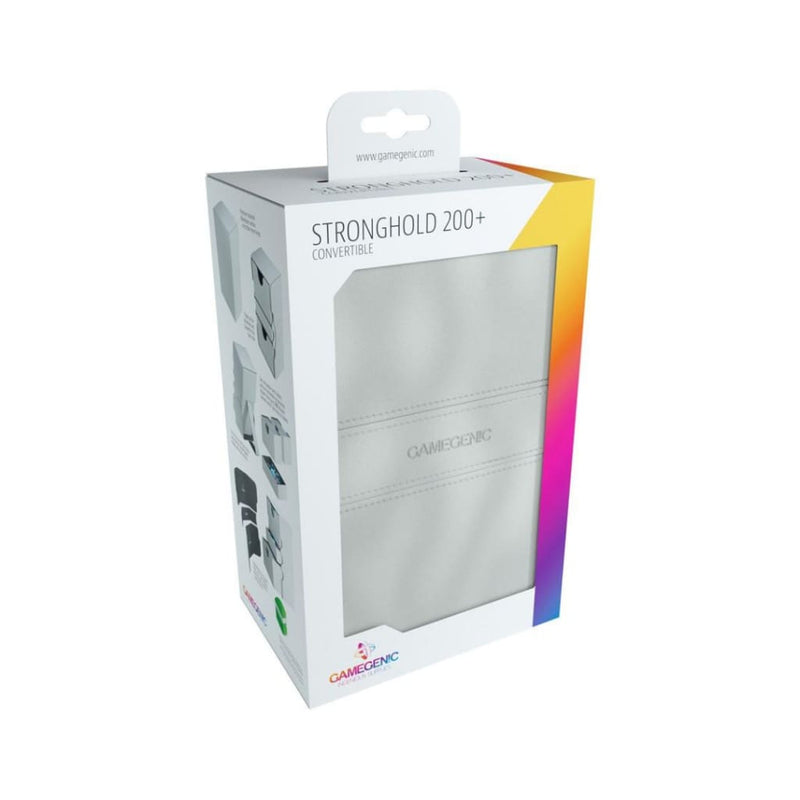 Gamegenic - Stronghold Convertible Deck Box 200ct - White -
