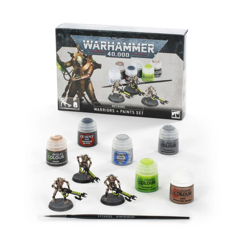 Necrons: Warriors + Paints Set - Miniatures