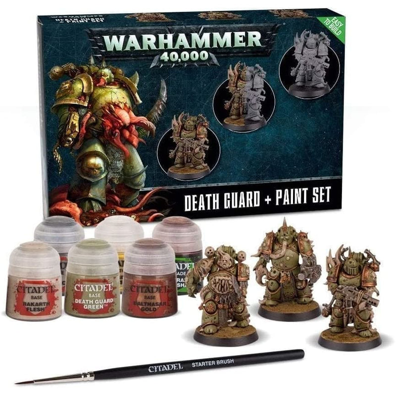 Warhammer 40k - Death Guard + Paint Set - Miniatures