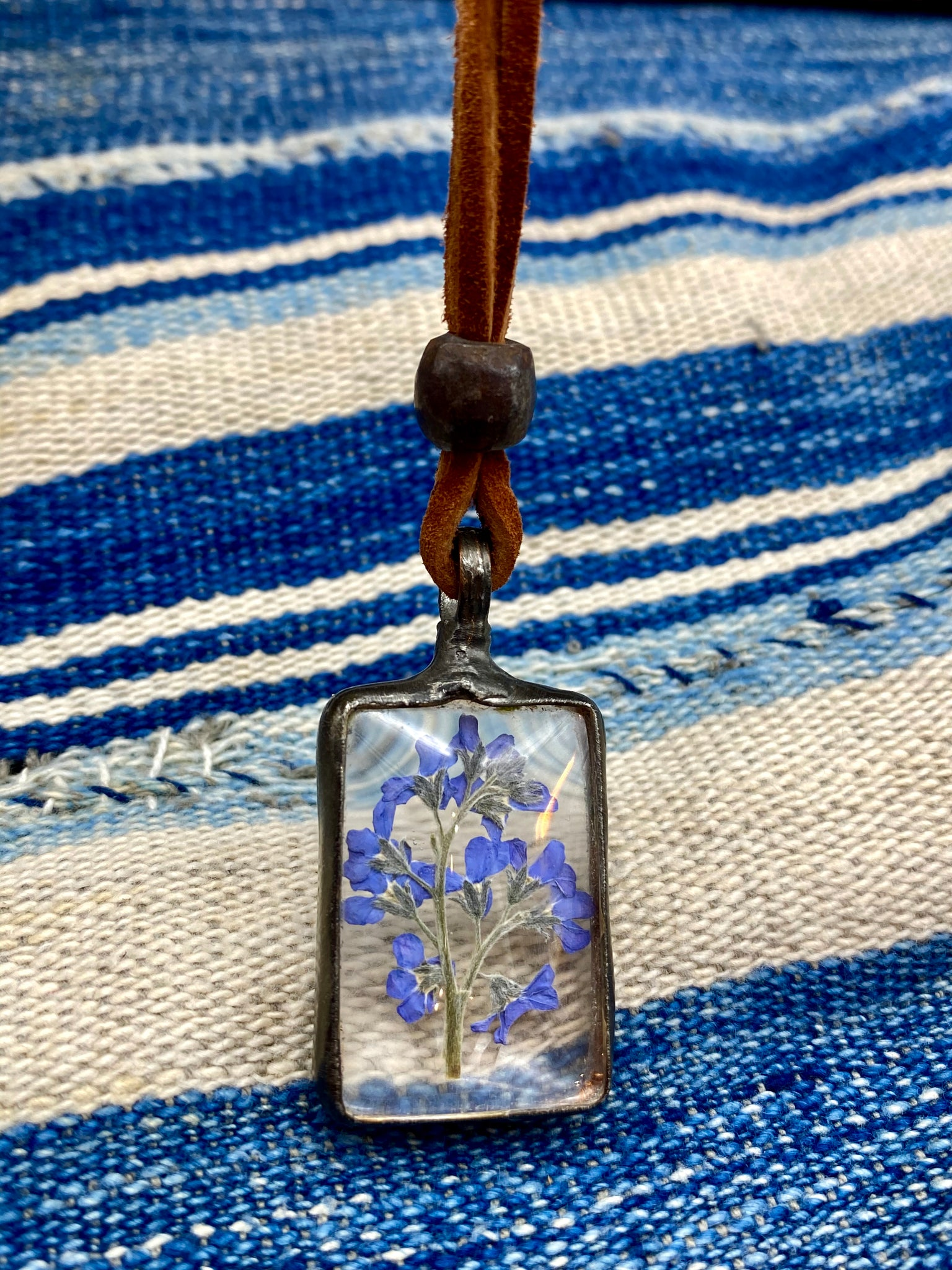 Frozen in Time Forget-me-Not Necklace