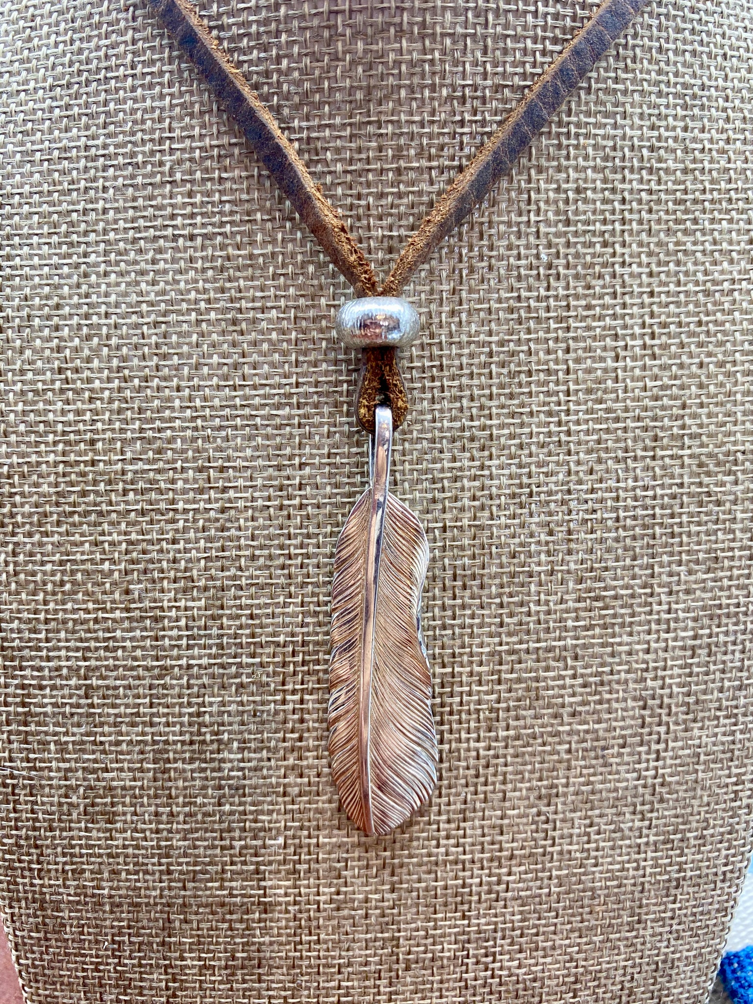 Medium Sterling Feather Necklace
