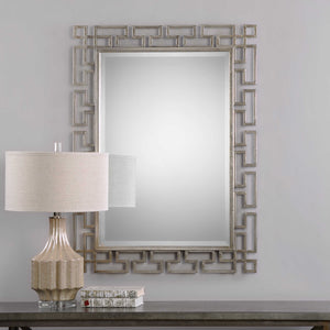 AGATA ANTIQUE SILVER LEAF MIRROR