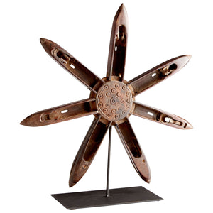 INDUSTRIAL CARVED WOOD FLOWER SCULPTURES