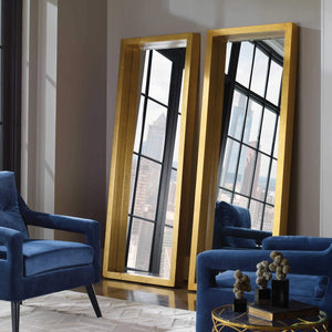 BRIXTON GOLD FLOOR MIRROR