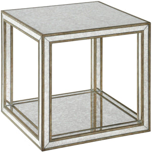 KALLISTA ANTIQUE MIRROR CUBE TABLE