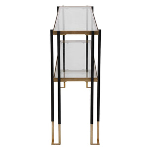 KENTMORE BLACK + GOLD CONSOLE TABLE