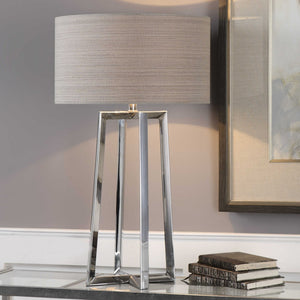 ALEXUS POLISHED CHROME TABLE LAMP