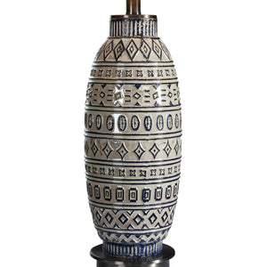 LOKI TRIBAL EMBOSSED CERAMIC LAMP