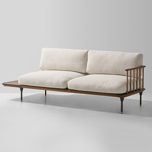 DISTRIKT CREAM LINEN CHAISE SOFA