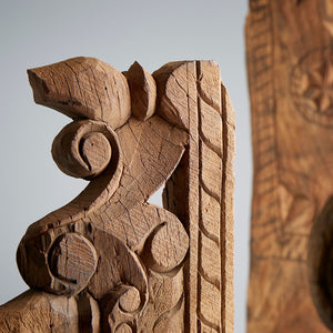 NEOLITHIC CARVED WOOD SCULPTURES