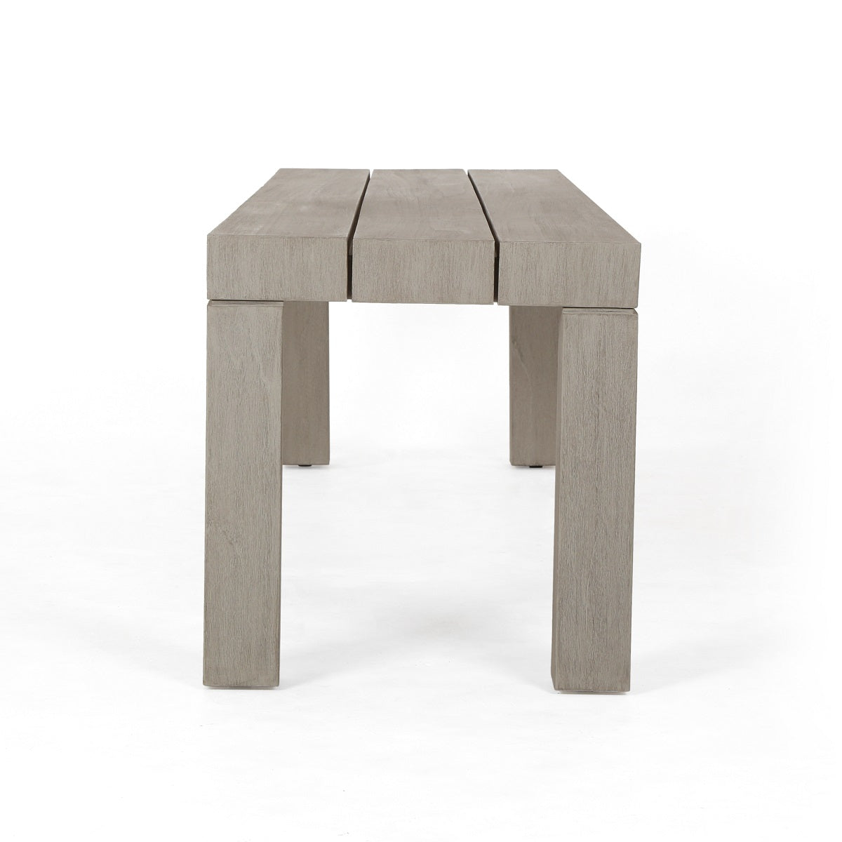 Picture of: Sonora Outdoor Teak Wood Dining Bench The Design Tap