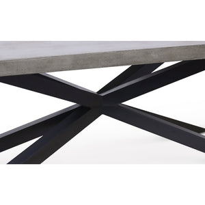 "MAXIM CONCRETE 94.5"" DINING TABLE"