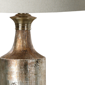 ADIMA METALLIC BRONZE CERAMIC LAMP