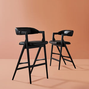 ANITA COUNTER STOOL: RAVEN LEATHER