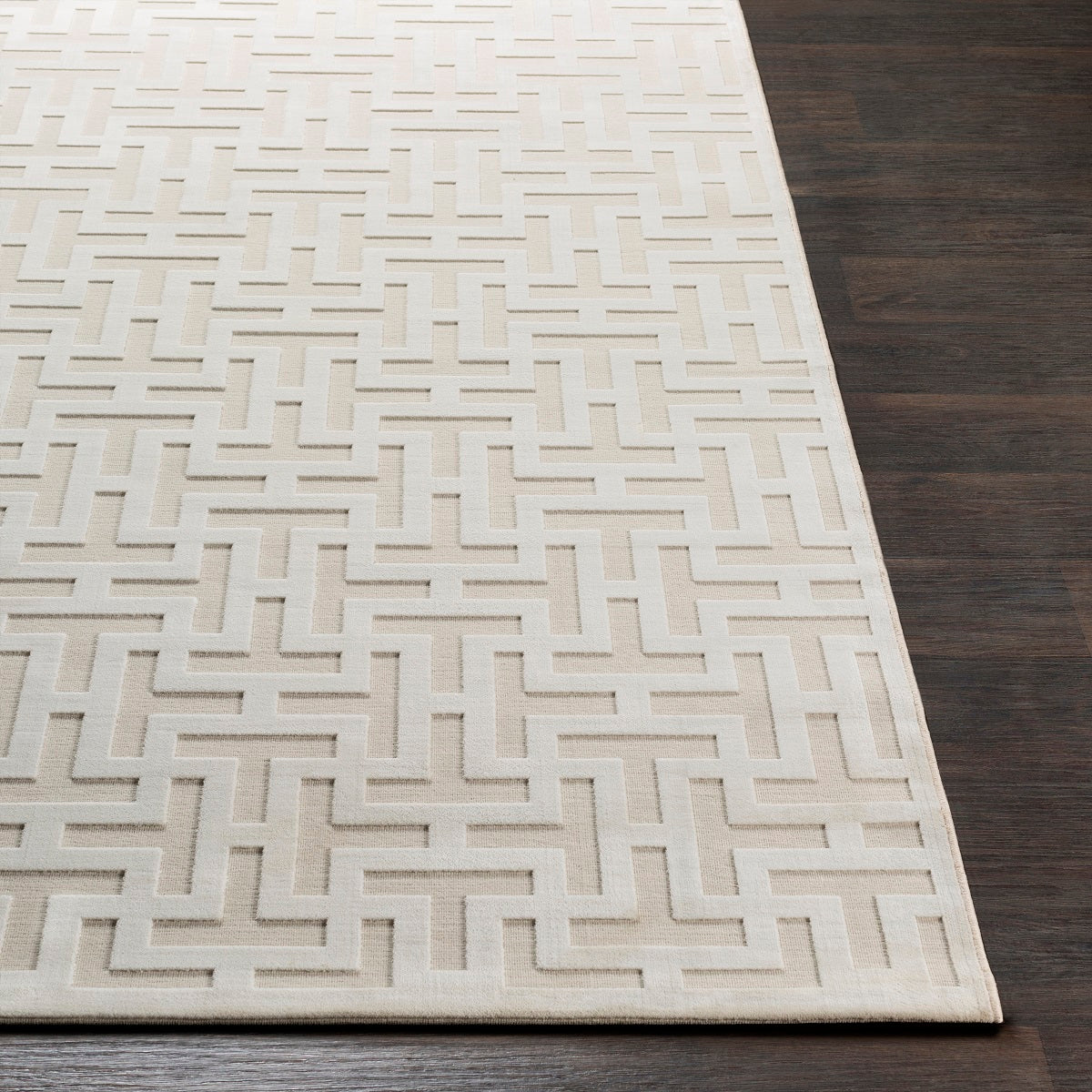 Foley Textured Chenille Rug Ivory The Design Tap