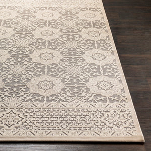 FABIA TEXTURED CHENILLE RUG: SAND, STONE