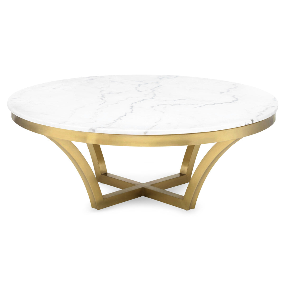 Aurora Marble Gold Coffee Table The Design Tap
