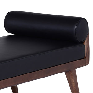 AVA WALNUT BENCH: BLACK