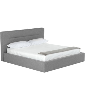 BASEL GREY UPHOLSTERED PLATFORM BED